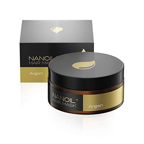 Nanoil Haar maske mit Arganöl – Haar maske, 300 ml, Regeneration und Revitalisierung, Stärkung der geschwächten Haare, intensive Pflege