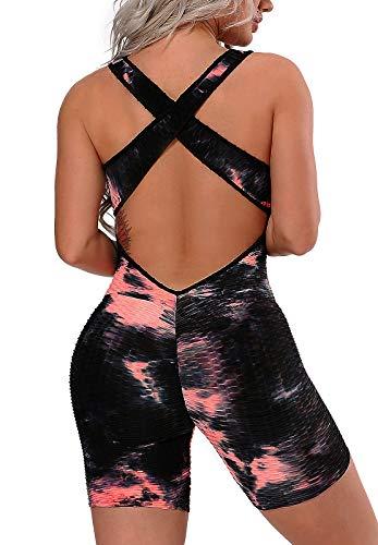 FITTOO Mono Pantalones Cortos Leggings Mujer Mallas Yoga Alta Cintura Elásticos Transpirables #1 Negro S