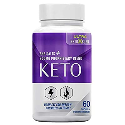 Official Ultra Keto X Burn, BHB Ketones, 1 Bottle Package, 30 Day Supply