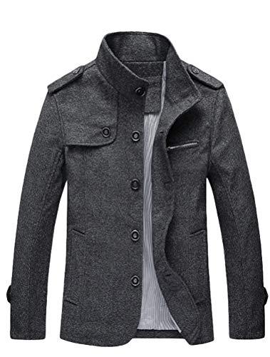 MatchLife Herren jacke tand kragen military außentrenchcoats style3-dunkel-grau s