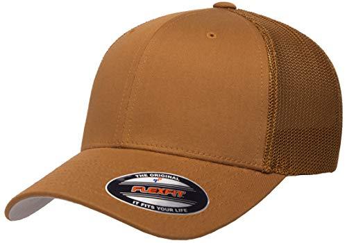 Flexfit Unisex-Erwachsene Trucker Mesh Fitted Cap Kappe, Caramel, Einheitsgröße