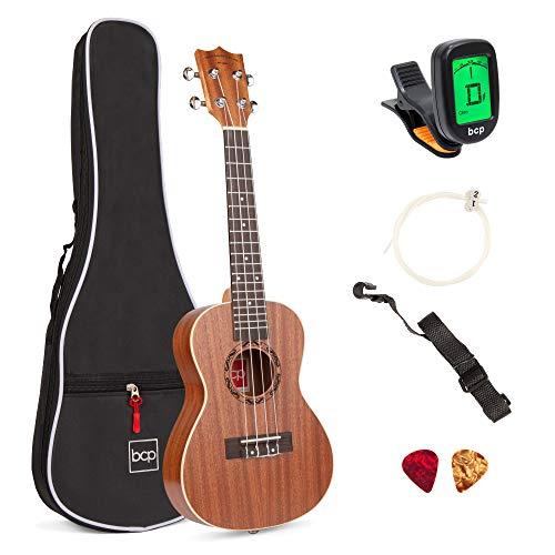 Best Choice Products Acoustic Concert Ukulele Starter Kit, 23 inch Sapele Wood Ukulele w/Gig Bag, Strap, Tuner, Strings & Picks
