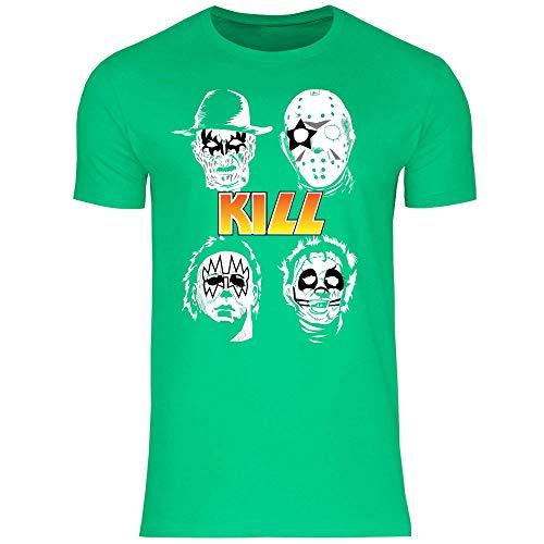 wowshirt Herren T-Shirt Halloween Horror Film Jason Michael Myers Serienmörder, Größe:3XL, Farbe:Kelly Green