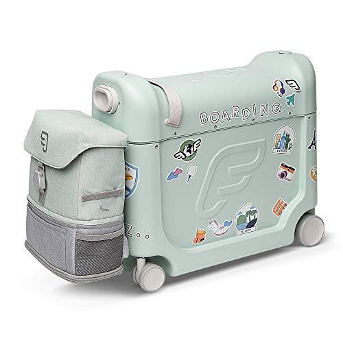 Jetkids Paquete de viaje con caja de cama y mochila de tripulación, Equipaje para niños, verde (Green Aurora), Travel bundle