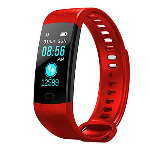 Wenyounge Rastreador de Actividad física Delgado, Reloj podómetro, rastreador de Actividad Impermeable IP67 con Monitor de sueño con Registrador de frecuencia cardíaca