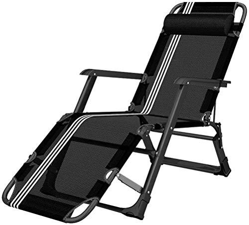 WDHWD - Silla reclinable para exteriores, silla reclinable, para personas de uso intensivo, silla individual acolchada, silla de exterior Zero Gravity
