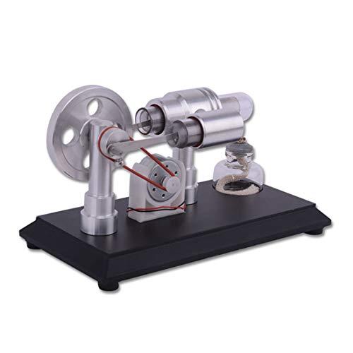 DAN DISCOUNTS Doppel Zylinder Mikro-DIY Stirling Motor Modell Dampf Wärme Pädagogisches Modell Spielzeug