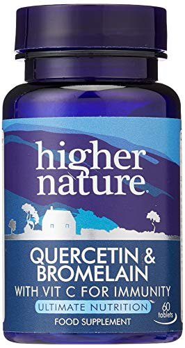 Higher Nature QUE060 Quercetin & Bromelain Pack of 60