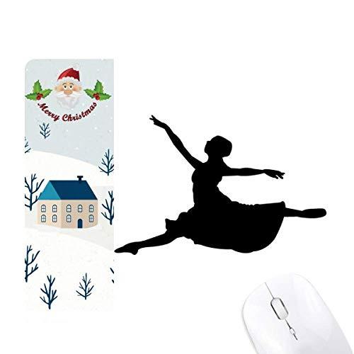 Alfombrilla de ratón para bailarín de ballet con diseño de Papá Noel