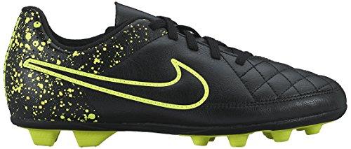 Nike Jr Tiempo Rio II FG-R, Zapatillas de Deporte Niñas, Negro/Verde (Black/Black-Volt),...