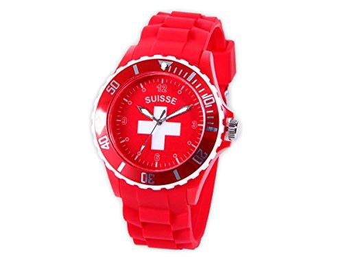 Alsino Armbanduhr WM EM Länder Silikon Uhren für Damen und Herren Silikonuhr, UR-CH Schweiz