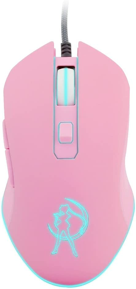 Wired Pink Optical Computer Gaming Mouse Mute Backlit Colorful 3200DPI PC Laptop Accessories Mice