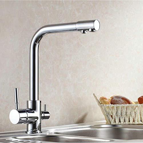 Waschtischarmaturen Weizenfarbe Finish Küchenarmaturen Küchenarmatur Waschtischarmaturen Einhand-Warm- Und Kaltwasser-Waschtischarmatur