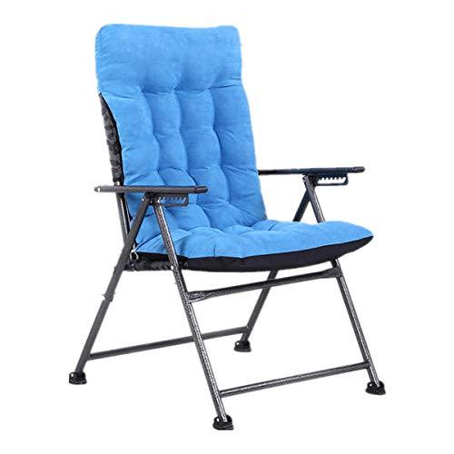 OMGPFR Sillón reclinable Perezoso Plegable, Ergonómico Silla Gaming Cómodo Ajuste del Asiento Antideslizante Lavable Cargue hasta 180KG para Dormitorio Sala Conveniente Creatividad marrón,Azul