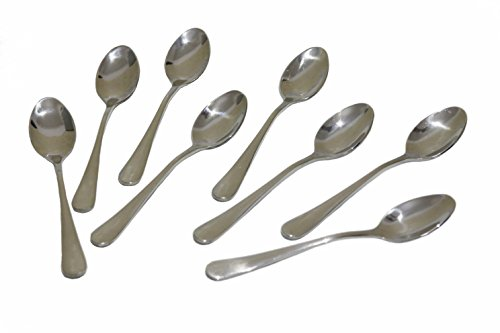 Demitasse Espresso Spoons, 4.7 Inches Stainless Steel Mini Coffee Spoons, Set of 8