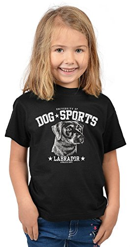 Labrador Kinder T-Shirt Hunderassen Kindershirt : Dog Sports Labrador - Hunde Motiv T-Shirt Kids Gr: XL= 158-164