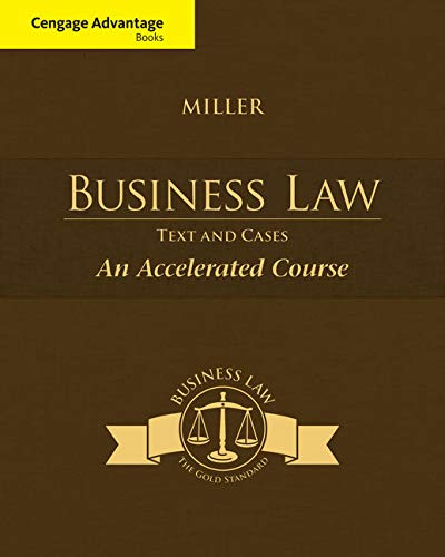 CourseMate (with Digital Video Library) for Miller s Cengage Advantage Books: Business Law: Text & Cases - An Accelerated Course, 1st Edition [Online Code]