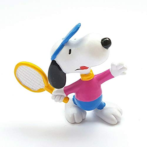 Schleich Peanuts Figurine, Snoopy Playing Tennis (22224)