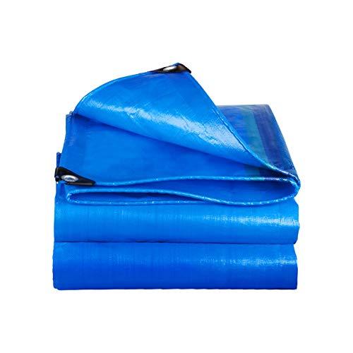 JDKC- Tarpaulin 250g/㎡, Marine Covering Tarpaulin, Multifunctional Camping Survival Tarp, Blue tarpaulin (Size : 3X5M)
