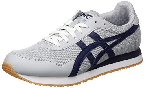 ASICS Mens Tiger Runner Sneaker, Piedmont Grey/Peacoat,43.5 EU
