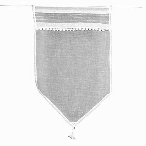 Simla - Rideau Brise bise Voilage Blanc - Monet Blanc - 60 x 90 cm
