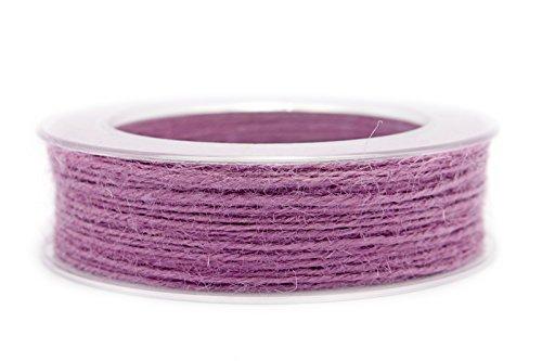 Jute Kordel Lavendel Flieder 1,5 mm x 50 m (Rolle) (0,24€/m) Juteschnuhr Schnur Dekokordel Sisal Tischdeko Hochzeit Ostern Kartengestaltung Basteln