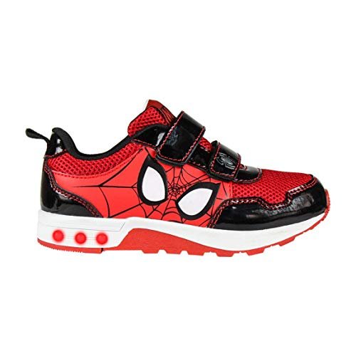 Artesania Cerda Deportiva Luces Spiderman, Zapatillas Niño, Rojo (Rojo C06), 25