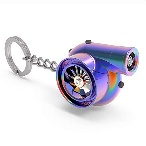 電子ライター | USB充電式シガレットライター、ファンターボサウンド、キーチェーン付き 金属シェルキャンプ防風魔法電子シガーライターピクニック点火器