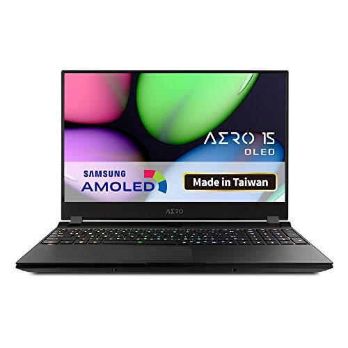 GIGABYTE Aero 15 OLED, Intel Core i9 9980HK, Nvidia GeForce RTX 2070, Samsung 4K AMOLED Bildschirm (AERO 15 OLED XA-9DE5130SP) + Garantieerweiterung + Softwarepaket
