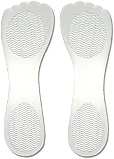 1Pair High Heel Gel Insoles- Self Adhesive Comfortable Thin Silicone Non Slip Shoe Pad Adhesive Gel Foot Pad for Pain Relieve (Transparent)