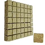 ROCKWOOL Grow Cubes idroponica crescente Soilless coltivazione Compress supporto del substrato per Rockwool Starter Plugs 50pcs