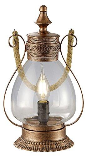 Trio Leuchten Pendelleuchte Linda, kupfer antik, glas klar 503500162