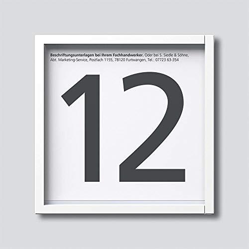 Siedle 2544235 Informationsmodul für Türstation, IM 612-0 W, weiß