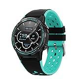 WEINANA Smart Watch Smartwatch Frauen Männer Mit Kompass Barometer Outdoor Sport Fitness Tracker Herzfrequenz Smart Watch GPS(Color:B.)