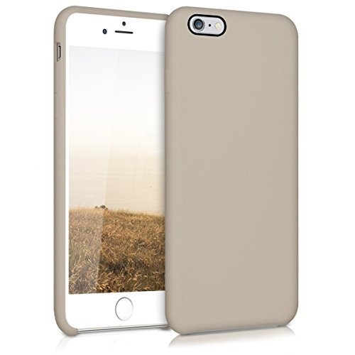 kwmobile Funda Compatible con Apple iPhone 6 Plus / 6S Plus - Funda Carcasa de TPU para móvil - Cover Trasero en marrón Topo