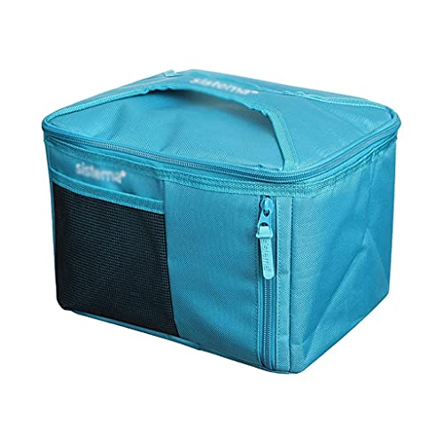 ZZL Bolsas de Enfriador de Picnic Plegables Cooladores Aislados Softermiento Bolsa de Almuerzo Porteble Coolero para la Oficina de la Escuela Picnic (Color : Blue A)