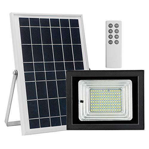 CARTEY Luces LED Foco Exterior Solar Iluminación Solar Lámpara Solar Ángulo con Placa Solar Y Mando Remote Jardín Patio Terraza Camping