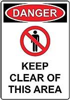 注意サイン-危険このエリアに近づかないでください。 通行の危険性屋外防水および防錆金属錫サイン