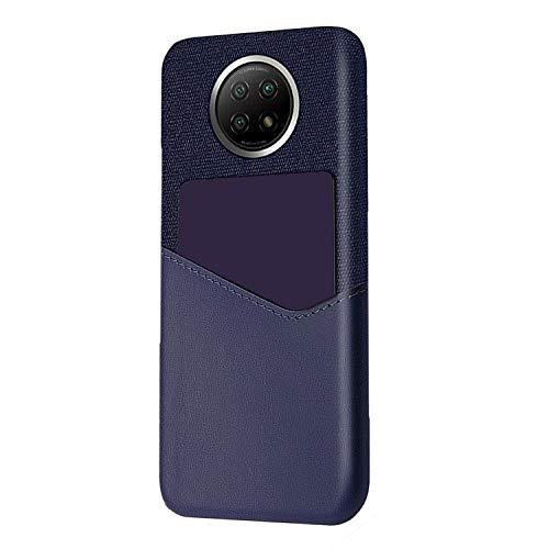 Redmi Note 9T シンプルケース/カバー PUレザー カード収納 ハードケース頑丈ケース/カバー シャオミ リドミーノート9T レザー調 ケース アンドロイド おしゃれ スマートフォン/スマフォ/スマホケース/タフカバー(ブルー)