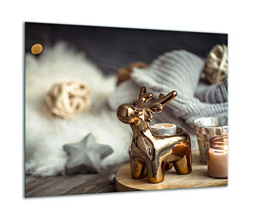 TMK | Placa de cristal para cubrir la cocina de 60 x 52 cm, una sola pieza, protección contra salpicaduras, placa de cristal, decorativa, tabla de cortar moderna