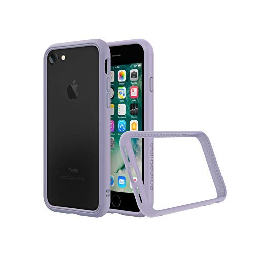 RhinoShield Bumper Case Compatible with [iPhone SE2 / SE (2020) / 8/7] | CrashGuard NX - Shock Absorbent Slim Design Protective Cover [3.5M / 11ft Drop Protection] - Lavender