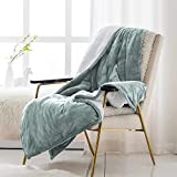 EIUE Sherpa Fleece Bed Blanket,Ultra Soft Baby Kids Nap Quilts for Home and Outdoor Travel.(Greygreen,60x80)