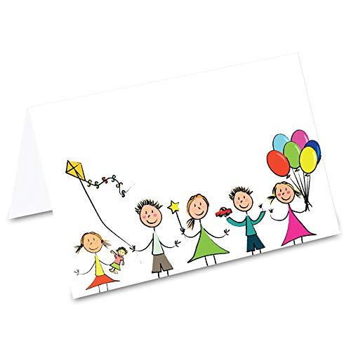 PRICARO Tischkarten Kindergeburtstag, 50 Stück
