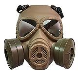 KEKE Protection complète Joint en Caoutchouc Protection respiratoire oculaire Protection respiratoire Largement utilisé dans la Peinture Pulvérisateur, Travail du Bois, Protection poussière,Beige