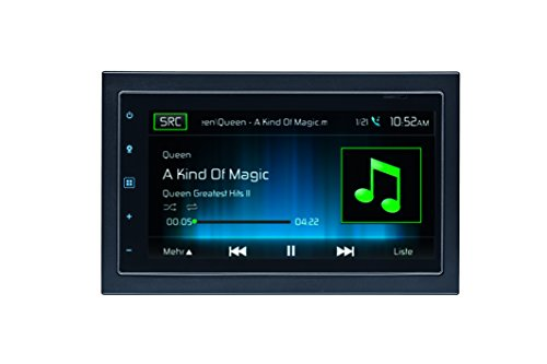 Mac Audio Mac 520 DAB | 6.8 Zoll Touchscreen 2-DIN Moniceiver für iPhone und Android | Bluetooth, DAB+ , Radio, USB | 4 x 50 Watt - schwarz