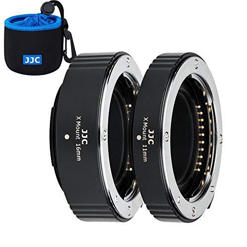 JJC Autofokus AF Makro Zwischenringe Set 11/16MM für Fujifilm Fuji X Mount X-Pro3 X-Pro2 X-A7 X-A5 X-T30 X-T3 X-T4 X-T200 X-T100 X-E3 DSLR Kameras Objektiv Zwischenringsatz