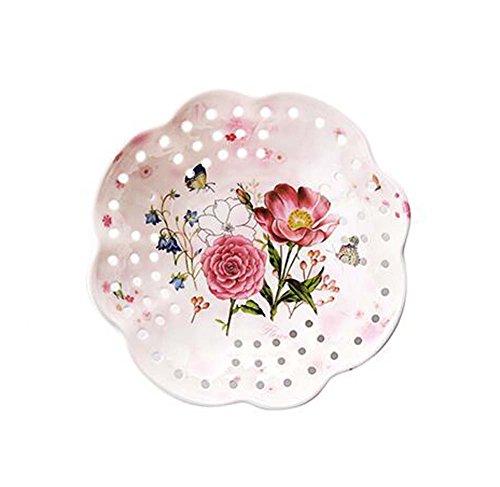 Bacs à fruits séchés exquis Plateaux Assiette à dessert 2 morceaux, papillons et fleurs