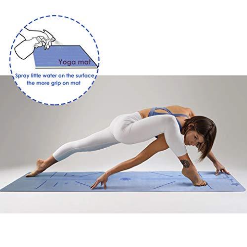 GOLDEN Yogamatte Faltbarel rutschfest Schadstofffrei - 1,5 mm Dünne Reise Waschbar, Naturkautschuk Matte, mit Tragetasche, Yoga Mat XL Ideal für Reisen, Pilates, Schweißabsorbierend