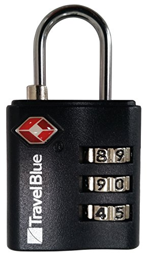 VAUDE Schloss TSA Combination Lock, silver/black, One Size, 125560380