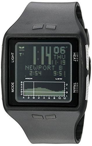 Vestal Unisex BRG030 Brig Digital Square Black Watch